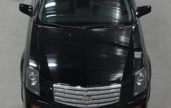 Cadillac CTS оклейка черной глянцевой пленкой