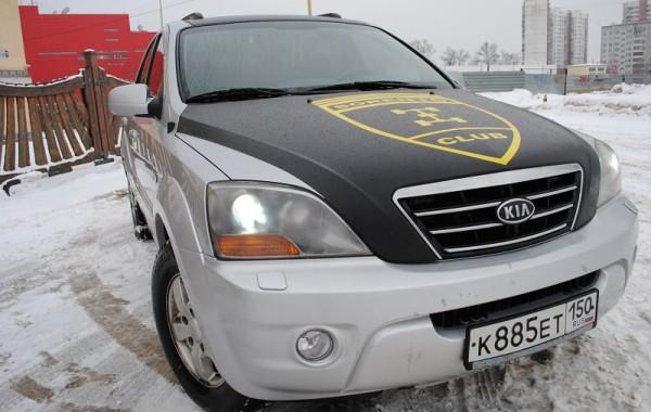 Kia Sorento – черный матовой верх, изготовление наклейки